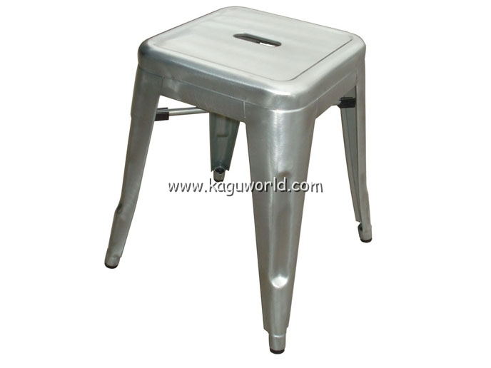 Replica Tolix H Stool 45 Cm Galvanized Finished Tolix