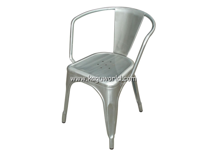 Delicieux Replica Tolix Marais A Chair With Arms Galvanized Finished